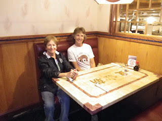 Janis and Martha. We had a comfortable corner booth right next to the food service area.