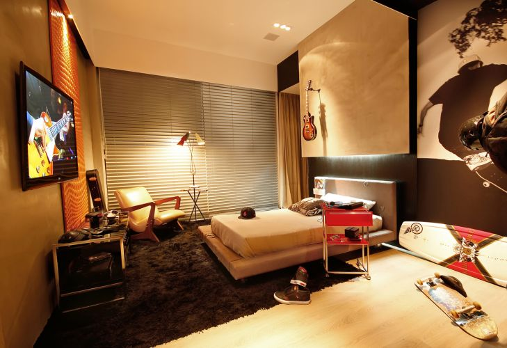 Decoração de apartamentos masculinos Moda Masculina  ~ Quarto Rustico Branco