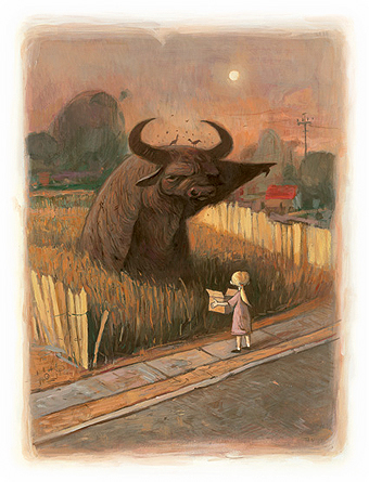 Shaun Tan Buffalo Illustration