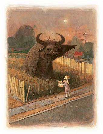 Shaun Tan Buffalo Illustration