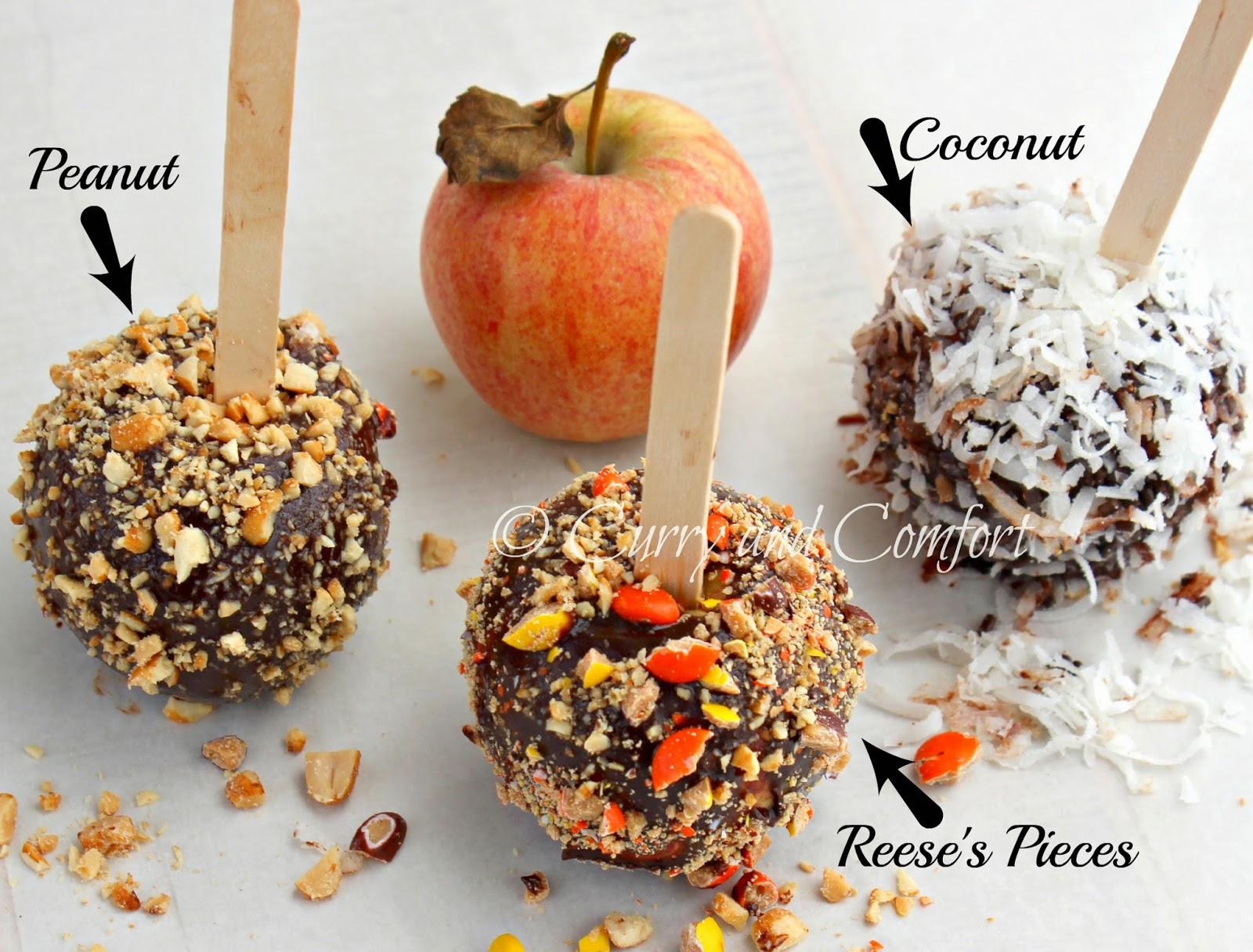Kitchen Simmer: Chocolate Covered Apples with Nuts, Candy and ...