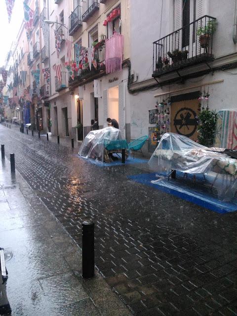Tormenta en Madrid el dia del montaje de DecorAcción 2015