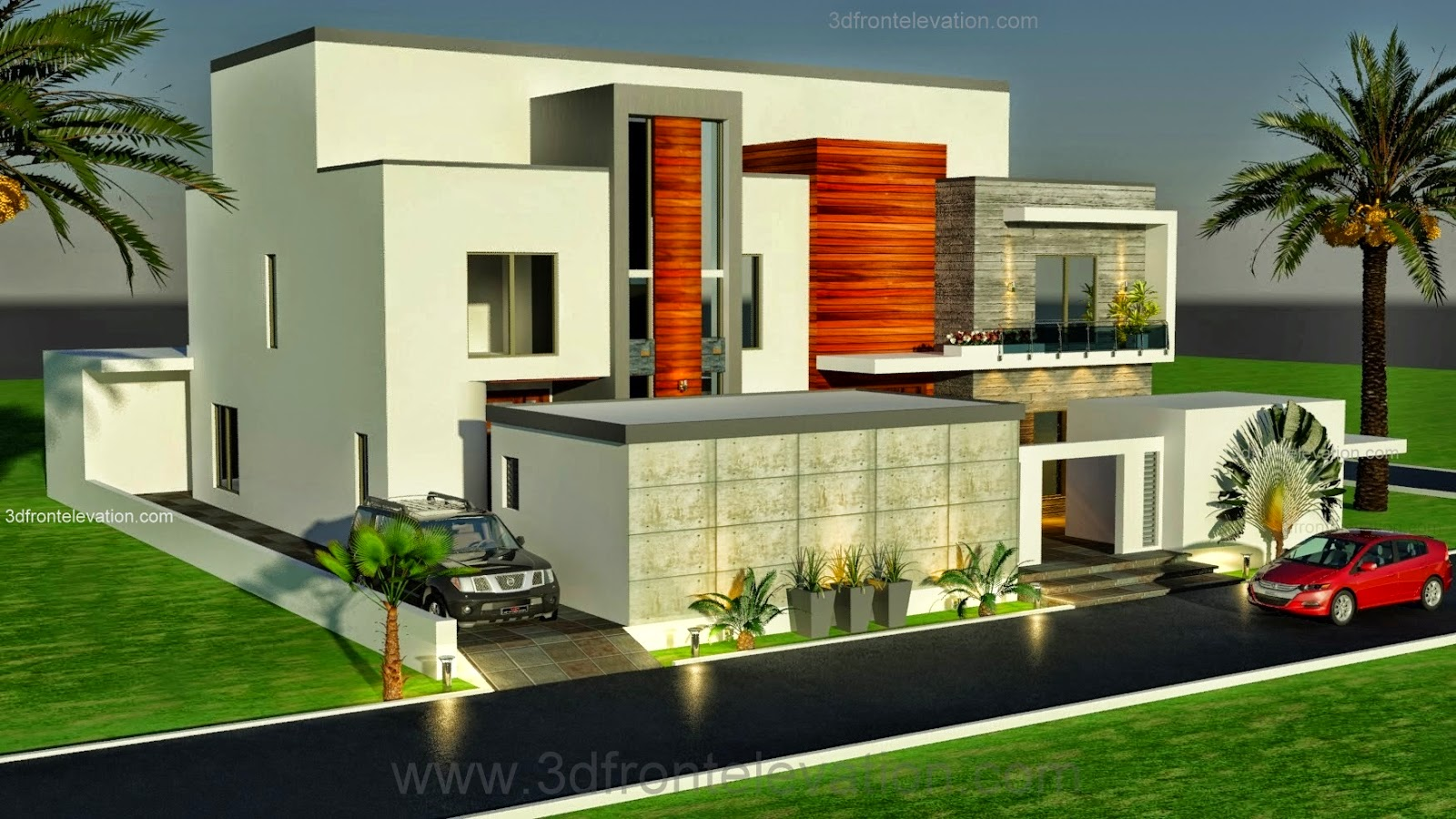 3d front dubai arabian modern contemporary for Modern house designs 3d
