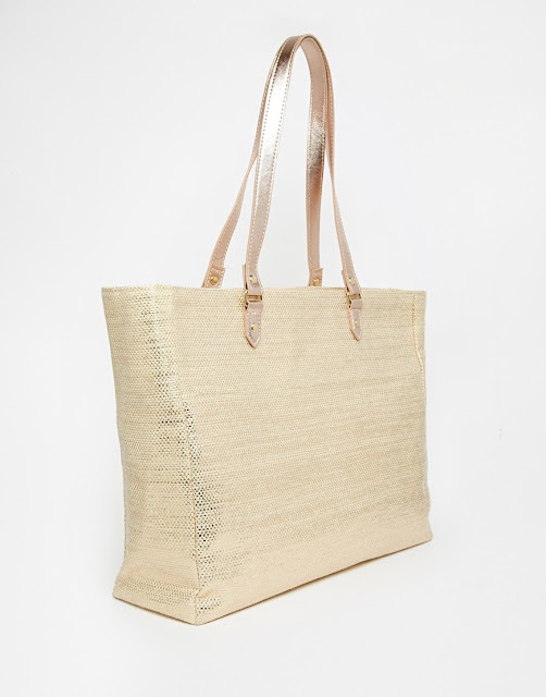 New Look Metallic Straw Bag