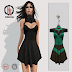 FINERAIN CREATIONS - AIRY DRESS GREEN
