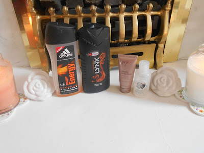 Adidas Deep Energy Ginseng Vivifying Hair & Body Shower Gel, Lynx Dark Temptation Shower Gel, No7 Blissful Body Wash and The Body Shop Coconut Shower Cream