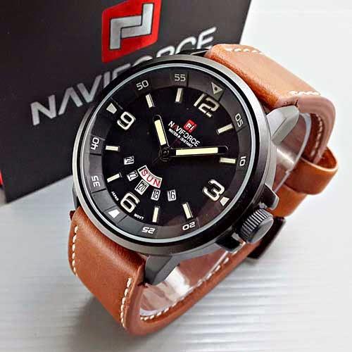 Naviforce 9028 Leather coklat