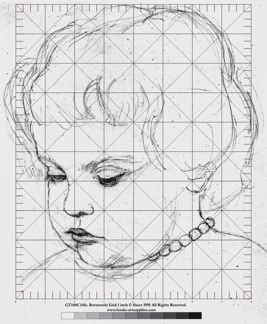 Using Lines In Drawing : Artists grid method mark bornowski