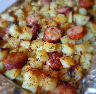 Welcome Home Blog: Oven Roasted Smoked Sausage and Potatoes