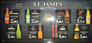 Precio de cervezas de botellín
