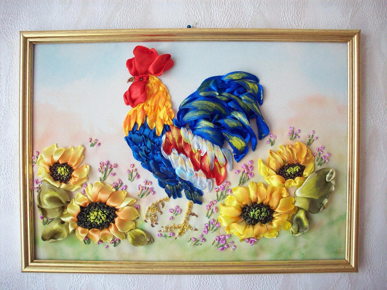 Вышивка лентами картин мастер