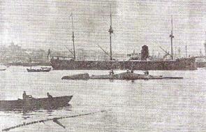 Hamidiye denizaltı gemisi Haliç 'te tecrübe seyrinde