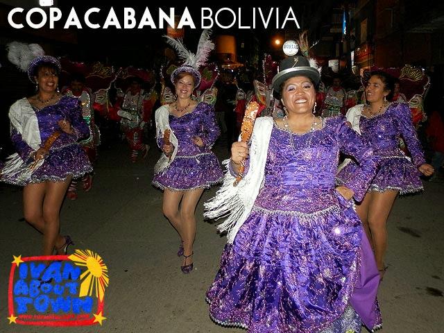 Fraternidades Folklóricas de Copacabana in Copacabana, Bolivia to honor of the Señor de la Santa Cruz de Colquepata