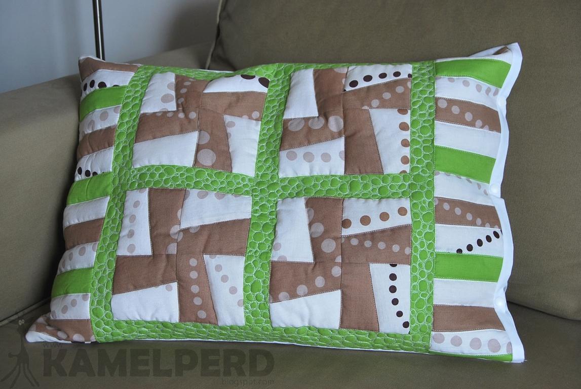 napownica, patchwork, pikowanie, poduszka