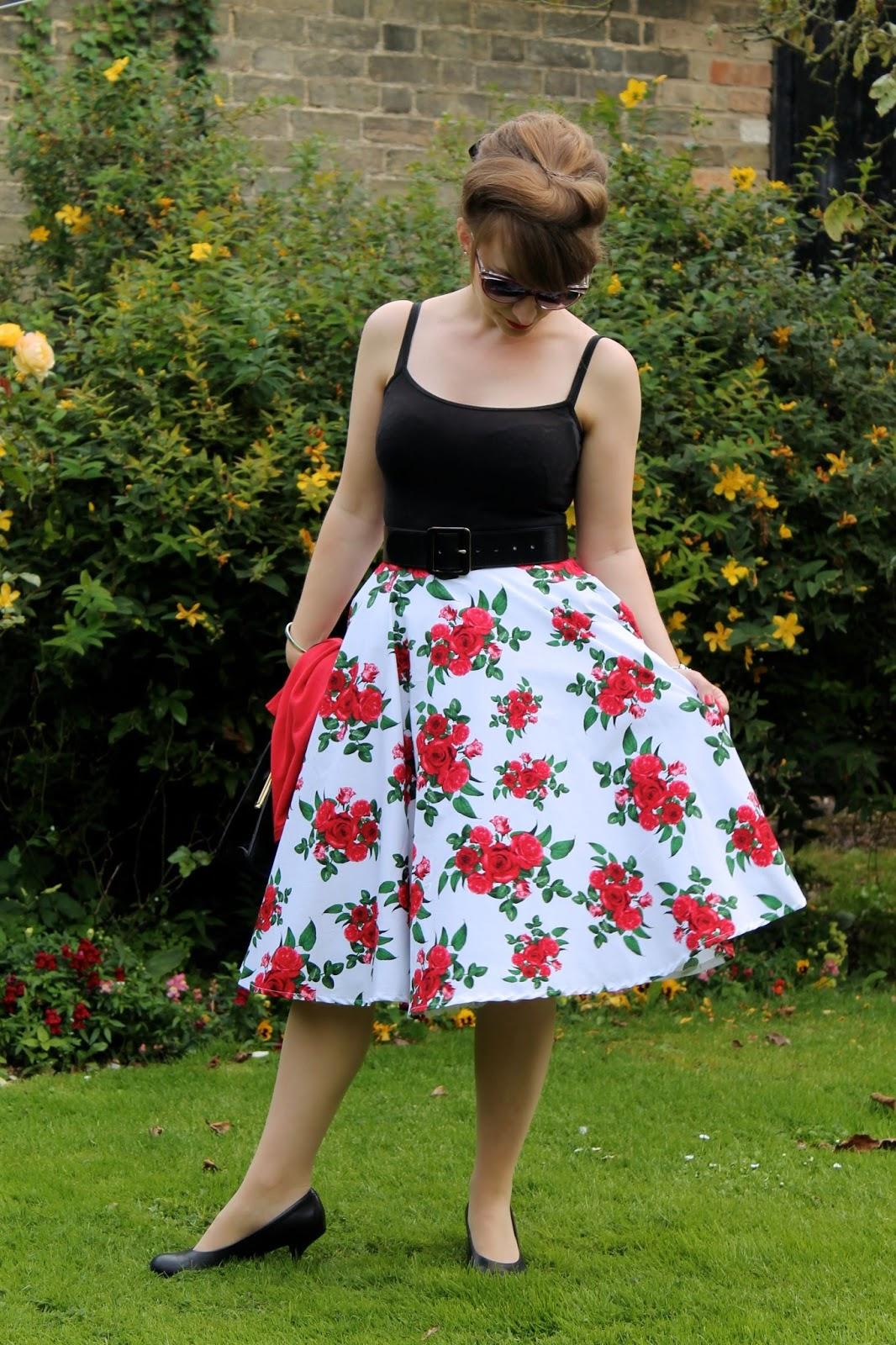 Petite length midi swing 50s style skirt