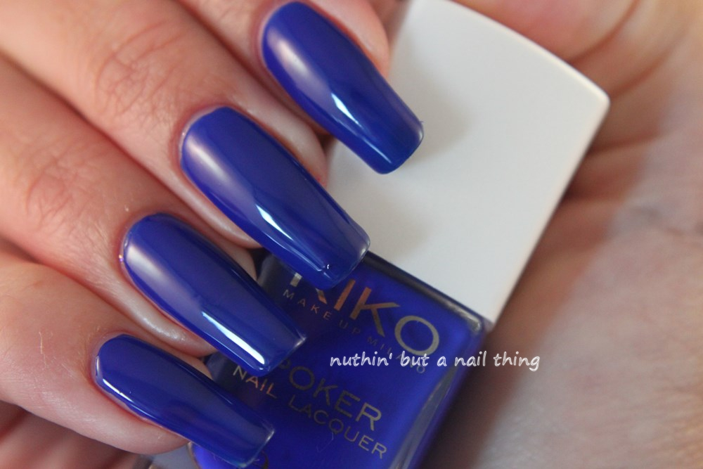 Kiko Poker Nail Lacquer - Exclusive Blue