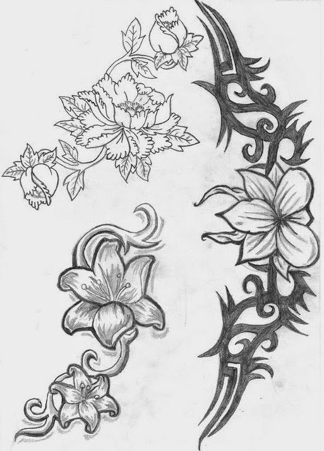 Gallery Pictures About Flowers Sketches Designs