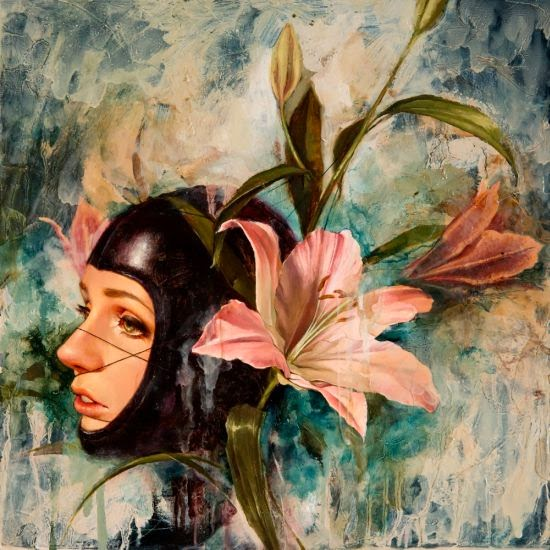 Soey Milk pinturas belas mulheres foto-realistas