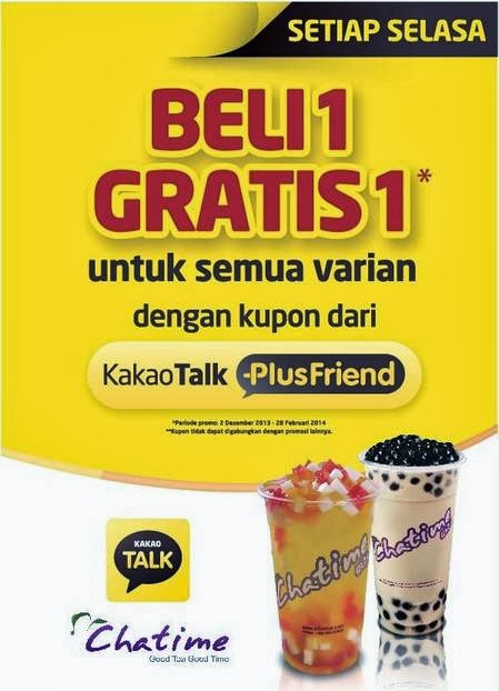 kakaotalk plus friend Chatime