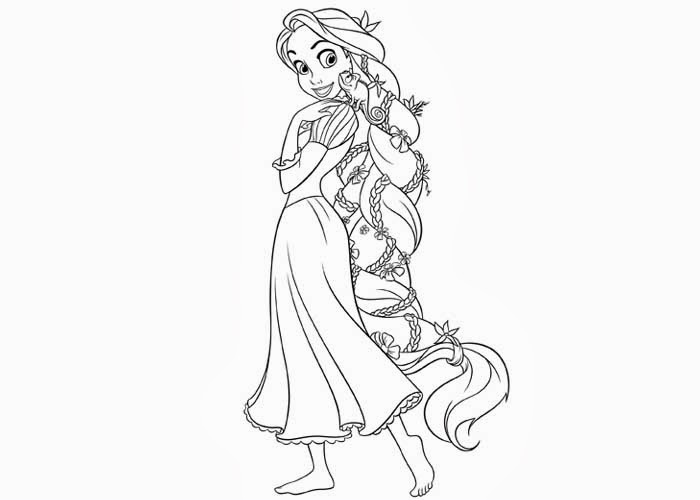 free princess rapunzel coloring pages - Princess Color Pages