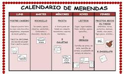 CALENDARIO DE MERENDAS