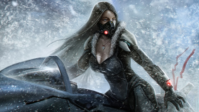 lost planet snow girl wallpapers hd