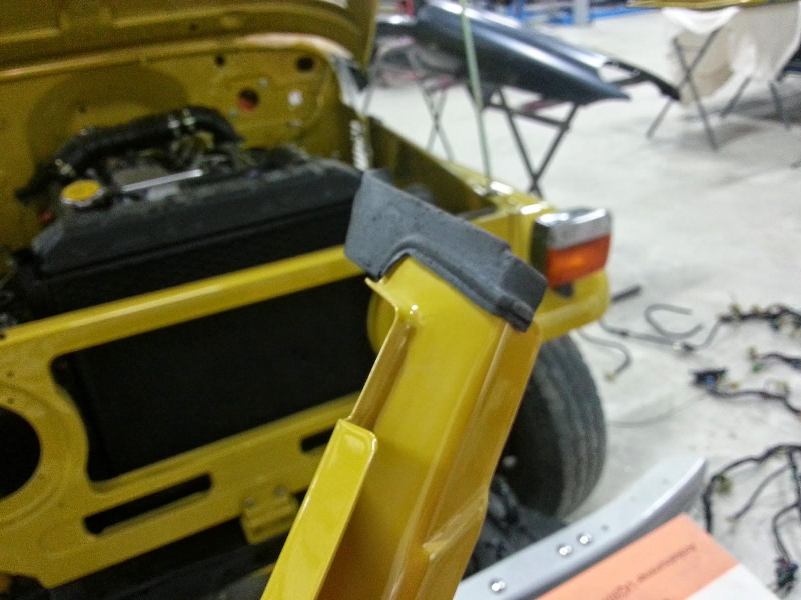 Toyota LandCruiser FJ40 Passenger Side Front Door Upper Corner Pad Weatherstrip (OEM) & Fj40 Door Weatherstrip \u0026 IMG_5035.