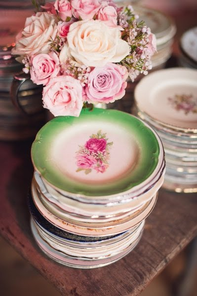 Style Me Green Vintage Plates