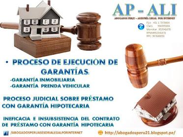 EJECUCIÓN DE GARANTÍAS , ASESORÍA LEGAL, PROCESO DE EJECUCIÓN DE GARANTÍAS, GARANTÍA INMOBILIARIA.