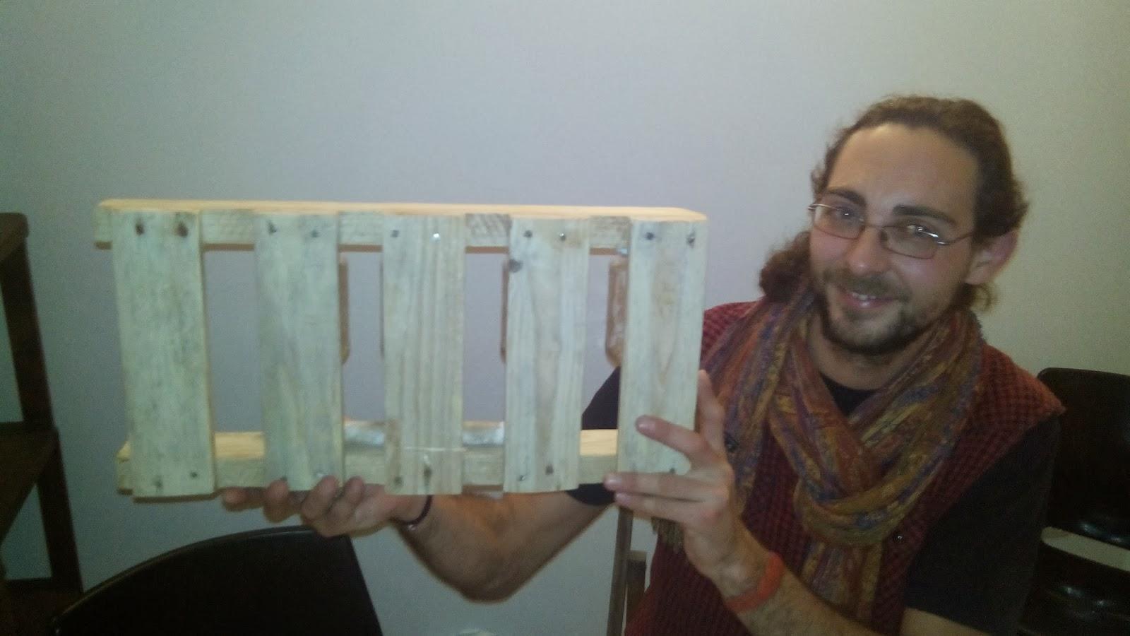 Mueblesdepalets.net: Estantería de cocina para especias hecha con un ...