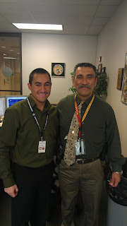 Aaron Yzquierdo (l) worked with his Dad, Raul (r), in the Robbery Division at the Houston Police Department.