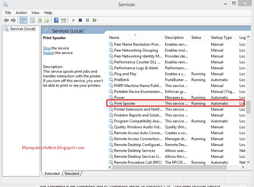daftar services windows