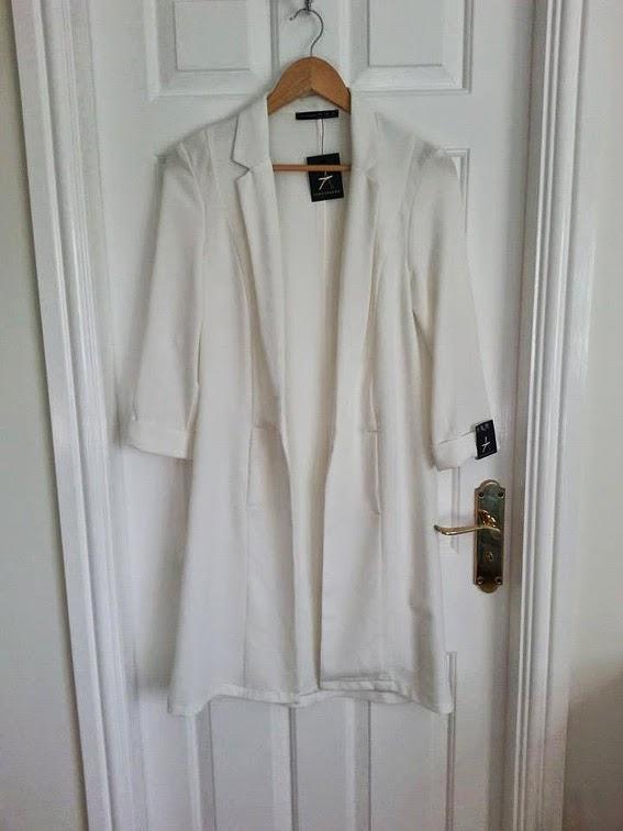 White longline blazer primark fashion blogger