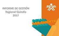 Informe de Gestión 2017 - SENA Regional Quindío