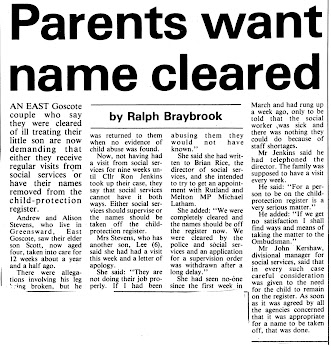 PARENTS WANT NAME CLEARED