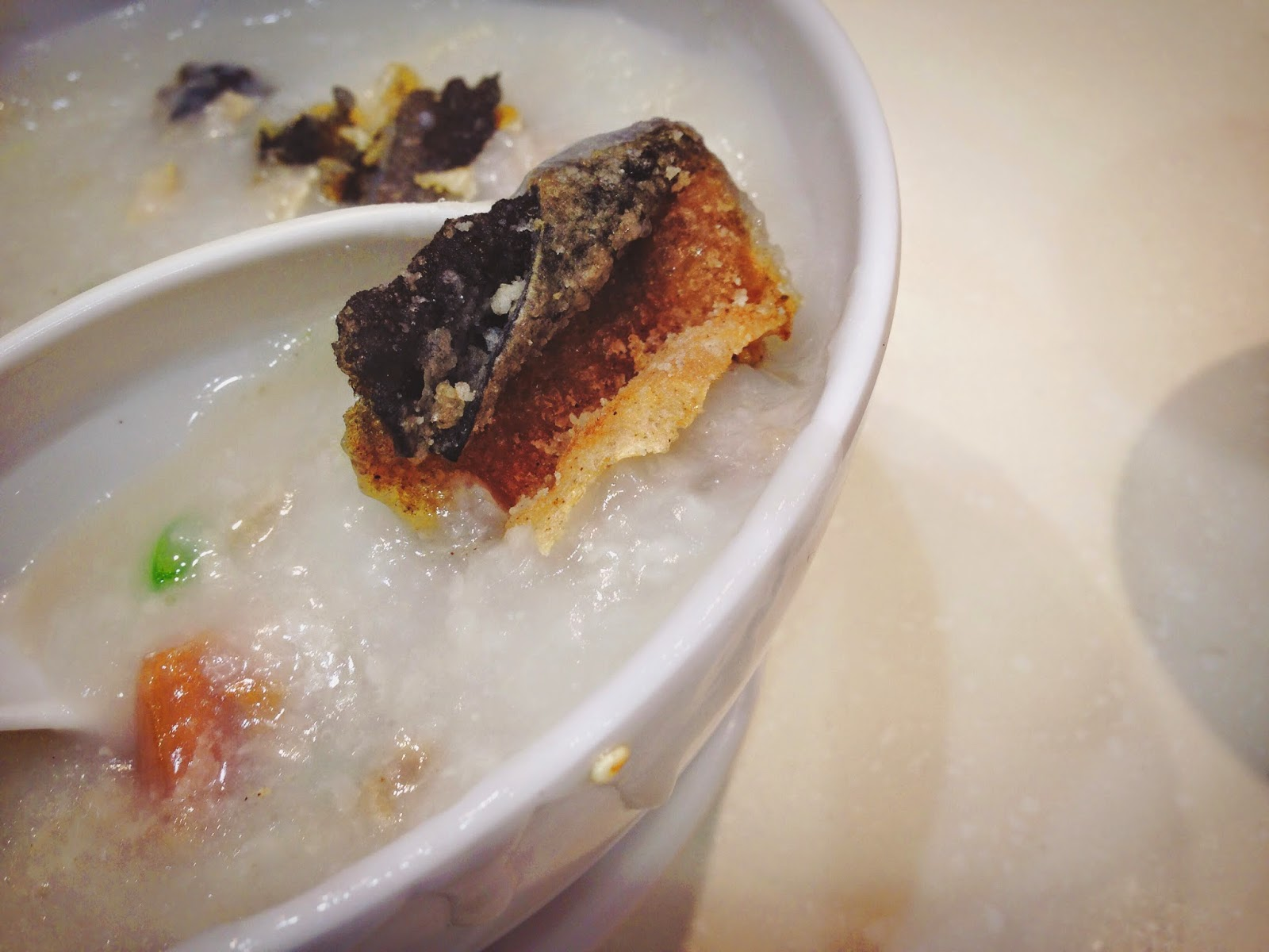 Ocean Empire Supreme Seafood Congee Fried Fish Skin