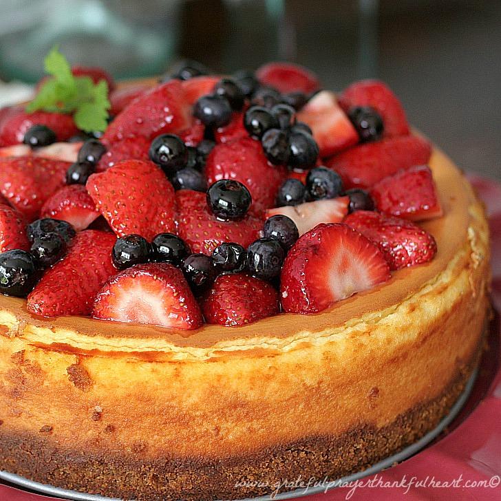 Mixed Berry Cheesecake Grateful Prayer Thankful Heart