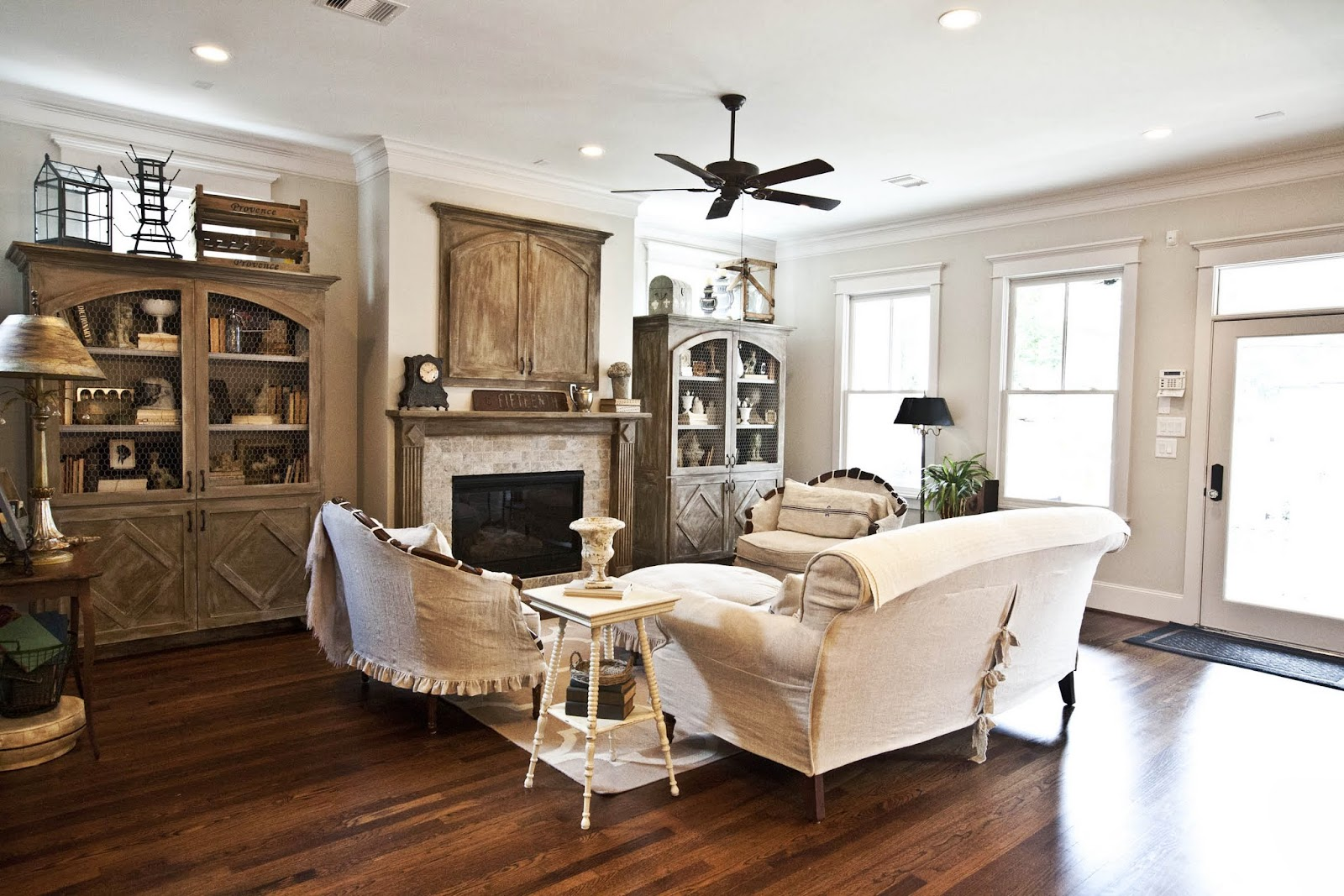 Cedar Hill Ranch French White Living Room