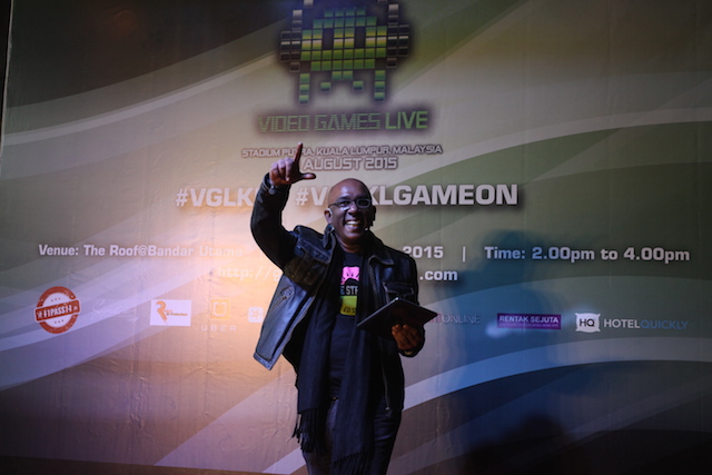 Leslie Jeyam - Director of 11To11 Events at the launching of VGLKLGAMEON