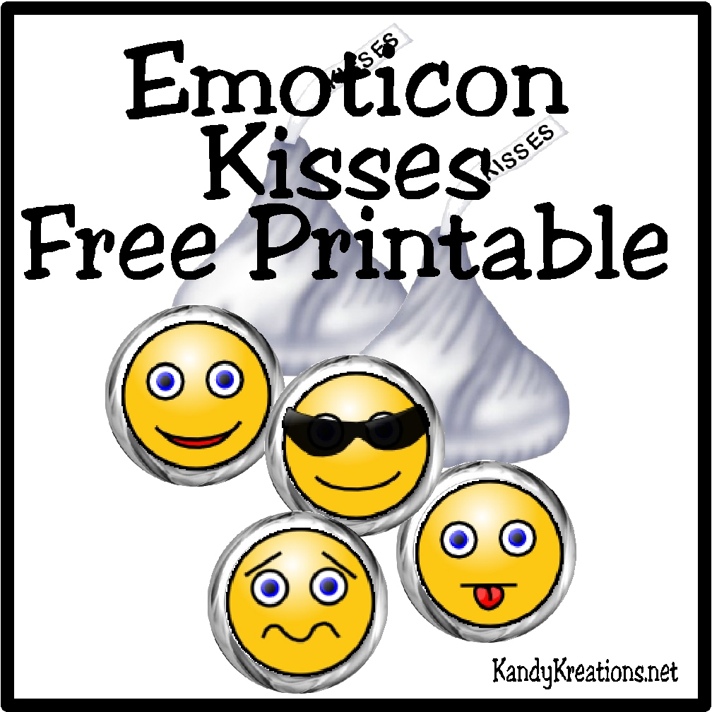 Emoticon smiley face kiss label free printable everyday parties have a sweet day with these hershey kiss labels with emoticon smiley faces add these buycottarizona Images