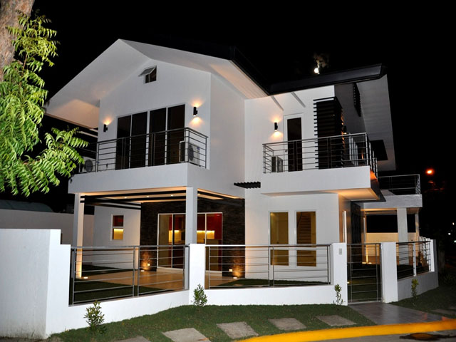Modern design home minimalist house design image 2 floor for Simple modern two story house design
