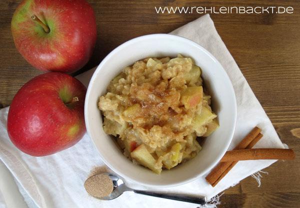 Bratapfel-Porridge | Foodblog rehlein backt