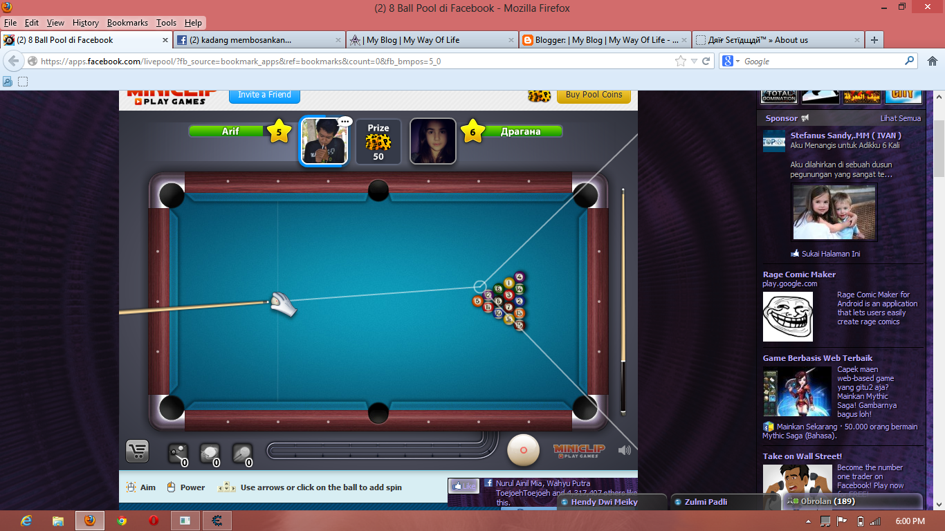 Update Cheat 8 Ball Pool [ Line hack Mode On ] - Emo-Cyber