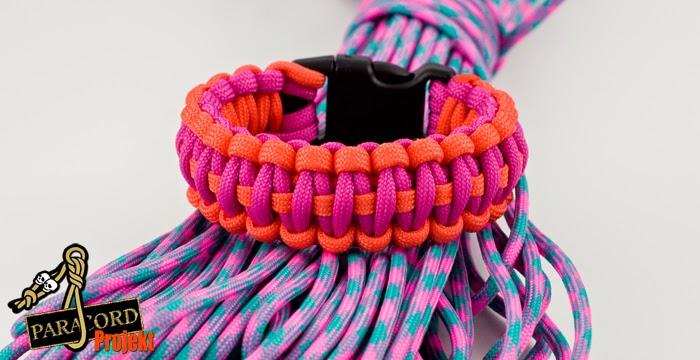 Bransoletka z paracordu damska cobra kolor