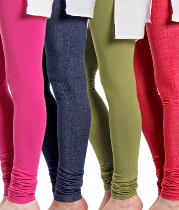 Snapdeal : Softwear Adorable Cotton Lycra Leggings Combo of 4 for Rs 599