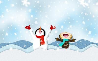 Muñeco de nieve feliz - Happy snowman