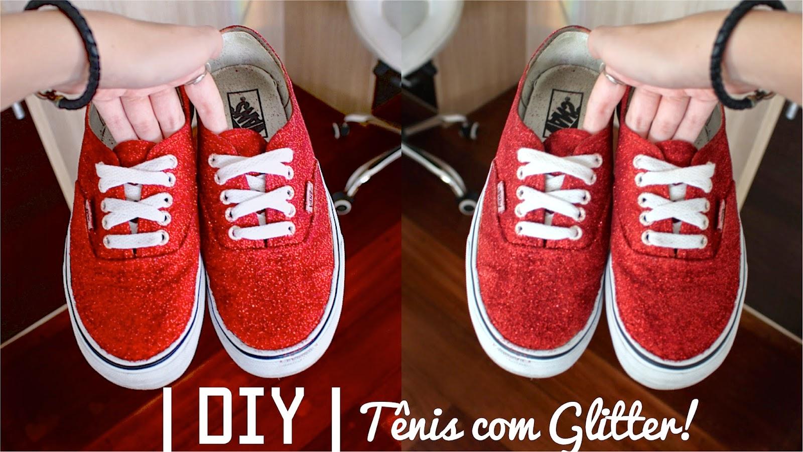 DIY Tênis com glitter