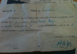 """Este es un certificado de mi papá: dice que """" Aprobó"""" 4to Grado en el año 1942!"""