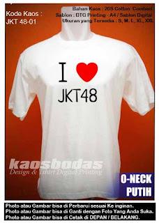 I Love JKT48 - Kaos Gambar  Jkt48 - 01