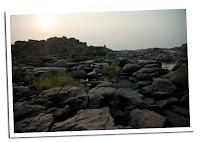 Cauce del rio seco en Hampi